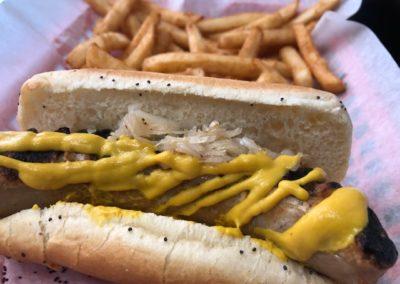 Chicago Bratwurst Sausage Hot Dog