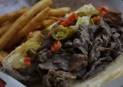 Italian Beef with Peppers and Fries